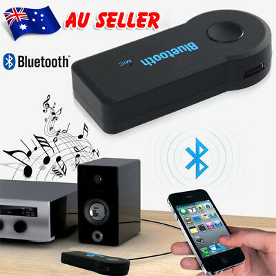 AU Wireless Bluetooth 3.5mm AUX Audio Stereo Music Car Receiver Adapter TW