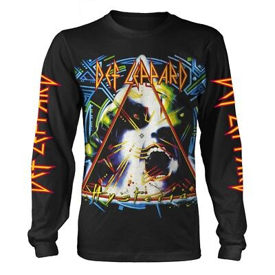 DEF LEPPARD T-Shirt Hysteria Album Long Sleeve All Sizes NEW OFFICIAL Logo