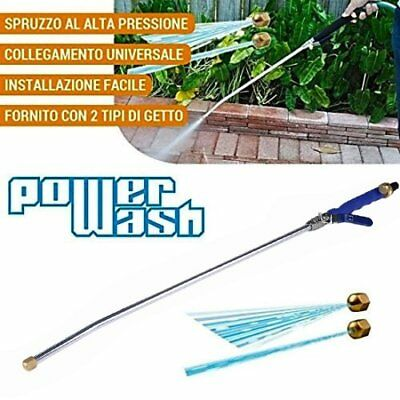 "Garden Hose High Pressure Spray Wand Power Washer &Brass Twist Nozzle Car 31"" QC"