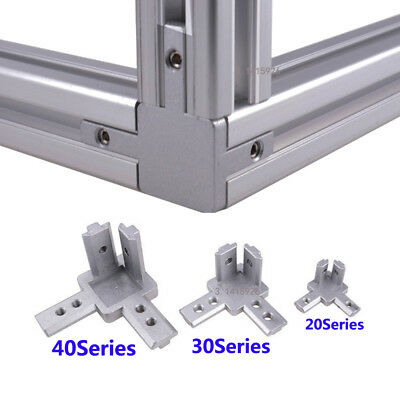 Aluminum T-slot profile L shape 3-way 90° inside Corner Joint  Bracket Connector