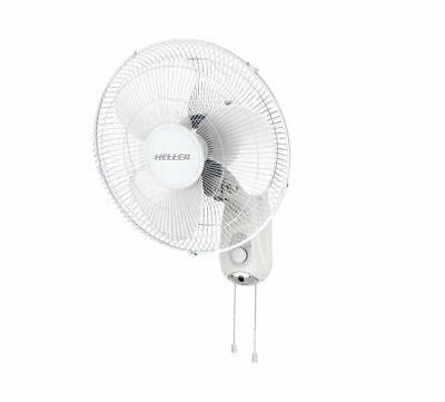 Heller Wall mounted Fan 40 cm with Pull Cord 3 Speed Oscillating Tilt Adjustable