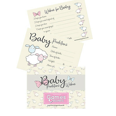 Baby Prediction And Advice Cards Baby Shower Game Double Sided Wishes Mum To Be