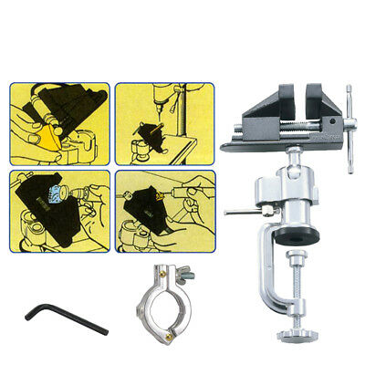 FIT Swivels 360 Degrees Vice And Drill Clamp w/ Bench Mounted & Ball Joint-US
