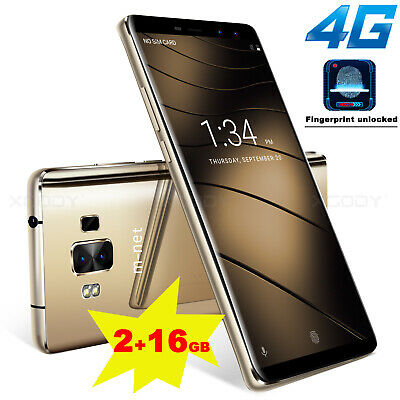"5.7"" Cheap 4G Unlocked Android 7.0 Mobile Smart Phones 2+16GB Dual SIM Quad Core"