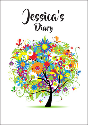2018-2019 diary personalised with your name FLORAL TREE  A5