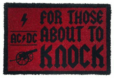 Official AC/DC For Those About To Knock Door Mat