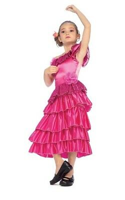 08b57bea3 Spanish Princess Mexican Flamenco Dancer Child Girls Dress Up Book Week  Costume