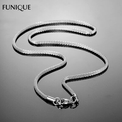 New Funique Necklace Jewelry Stainless Steel Mesh Chain Necklace For Womens Silv