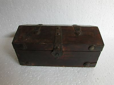 Vintage Collectible Handcrafted Handmade Hut Shape Iron Fitted Jewellery Box
