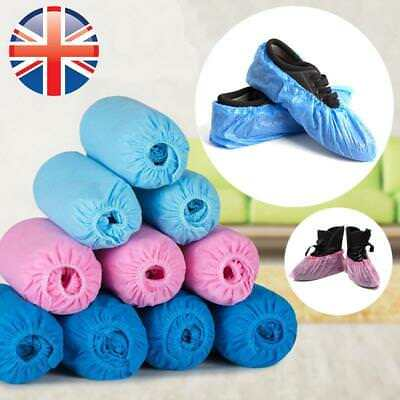 *UK Seller* PREMIUM QUALITY 2~200X Disposable Shoe Covers Protectors Overshoes