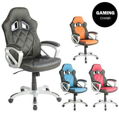 Sports Racing Gaming Chair Executive Computer Lift 360 Swivel PU Leather New