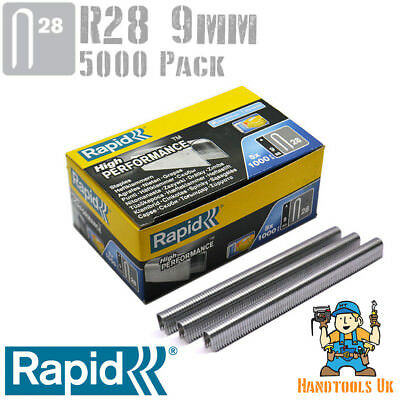 Rapid R28 9mm Cable Staples 5000 Box - For use with Rapid R28 Tacker
