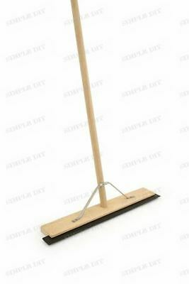 "24""  Rubber Floor Squeegee With Wooden Handle & Metal Stay Heavy Duty Industrial"