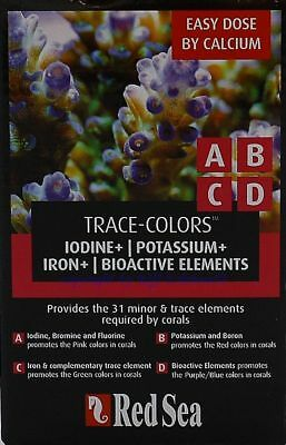Red Sea  Trace - Colors ABCD 4x100ml  Spurenelemente für Meerwasser  54,98€/L
