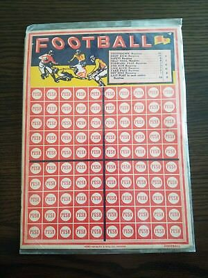 1940 Football Game 1 Cent Betting Punch Push Board NFL Vintage Gambling USA