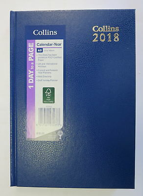 Collins Royal 52 One Day to a Page BLUE Diary 2018