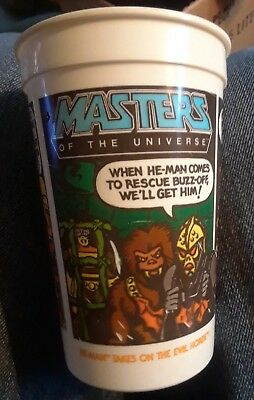 Vintage Masters of The Universe He-Man Cup Burger King Pepsi Takes on Evil Horde