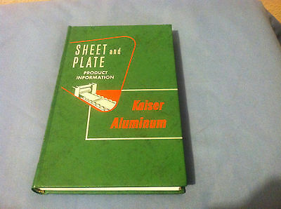 Sheet and Plate Product Information Kaiser Aluminum 1958 2nd Edition