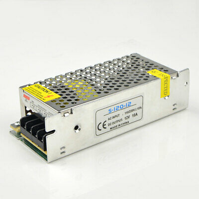 AC 110V 220V To 120W DC 12V 10A Power Supply Driver Switch Adapter For LED Strip