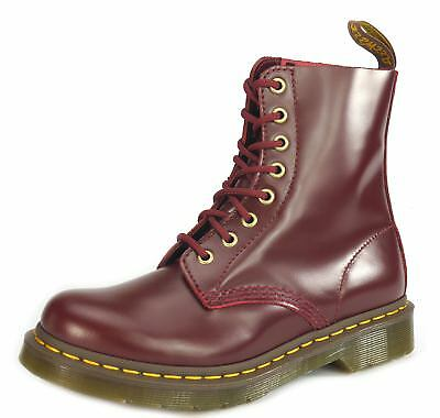 DM Dr Martens Pascal 8 Eye Ladies Lace Up Airwair Boots Oxblood Buttero 9630f5ae6880