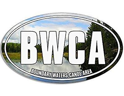 MAGNET Oval BWCA Boundry Waters Canoe Trail Magnet(minnesota wilderness) Size...
