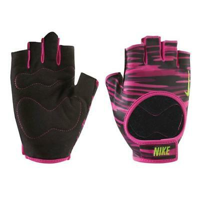 Nike Women's Fit Training Gloves Fitness Gym Workout Camo Pink Black