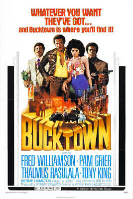 1975 BUCKTOWN VINTAGE ACTION MOVIE POSTER PRINT 24x16 9MIL PAPER