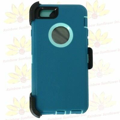 "Cyan Teal For Apple iPhone 6S Plus (5.5"") Case w/ Clip fits Otterbox Defender"