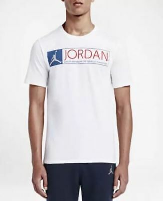 885b59f4363 Nike Men's Air Jordan 12 THE GREATEST Tee White/Blue 725013-100 b Size