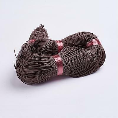 DARK BROWN WAXED COTTON CORD 10 metres x 1mm Shamballa Macrame Jewellery Making