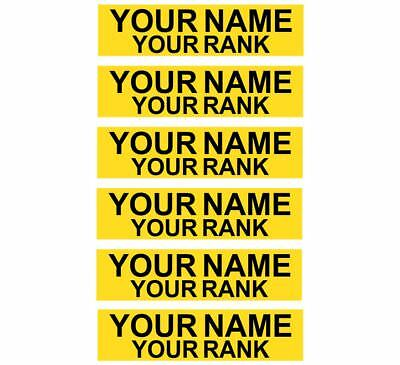 Firefighter/EMS Accountability Tags - Laser Engraved with Velcro Back, Set of 6