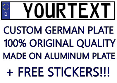 Custom Personalized ALL European Car Euro Number License Plate Germany German