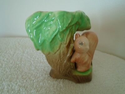 """Vintage Eastgate Pottery Withernsea  Posy Vase Squirrel  3 3/4"""" Tall"""