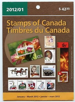 Weeda Canada 2012 January-March Quarterly Pack, sealed! Face value $50.47