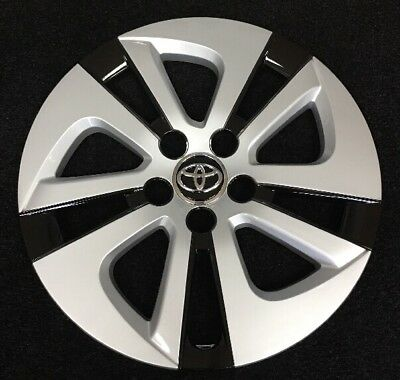 """15"""" Silver Black Hubcap Wheelcover AM Fits 2016-2018 Toyota PRIUS"""