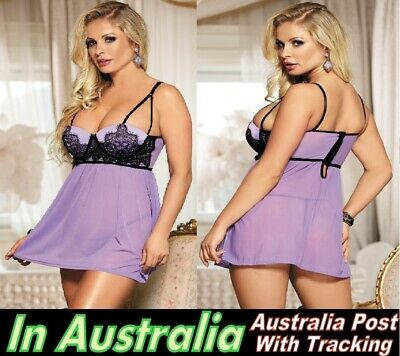 5039 Plus Size 7XL 24 26 Babydoll Nightie Women Nightwear Lingerie Pantie sissy