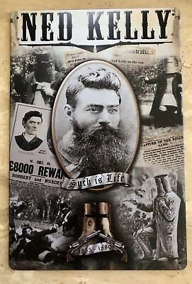 OUT LAW LEGEND NED KELLY Such Is Life VINTAGE  TIN SING  1855 - 1880