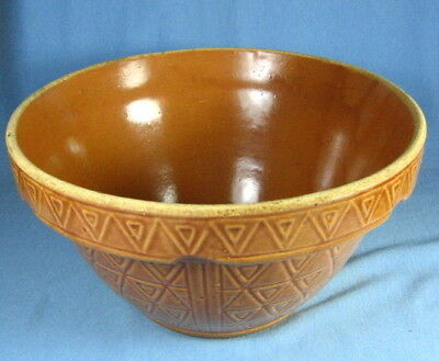 STONEWARE Pottery MIXNG BOWL ~ Large Antique  McCoy USA #200/-