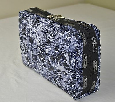 LeSportsac 7121 Adorn Grey Extra Large Rectangular Cosmetic