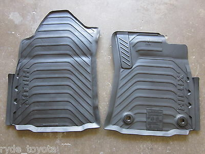 Hilux Front Rubber Floor Mats Manual 9/15 On ** Toyota Genuine Parts **