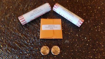 2018 P & D 2 rolls Lincoln Penny Union Shield Cent w Bonus Plus Free Shipping
