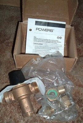 """Powers LM495-1 Thermostatic Mixing Valve 1-1/2"""" Union NPT 80-120F Watts"""