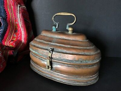 Old Turkish Hammam Bath Copper Soap Carrier …beautiful collection / accent piece