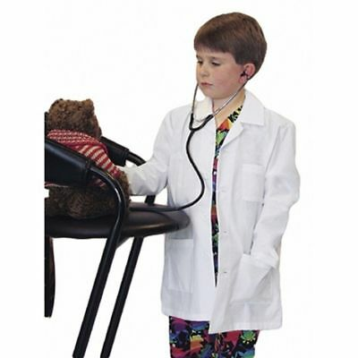 Children Kid White Lab Coat Doctor Hospital Scientist School Fancy Dress Costume