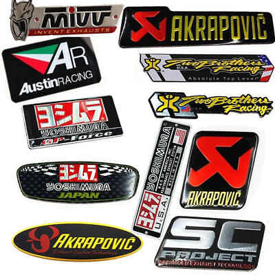 11PCS Motorcycle Exhaust Pipes Decal Sticker Heat-resistant Modified Set