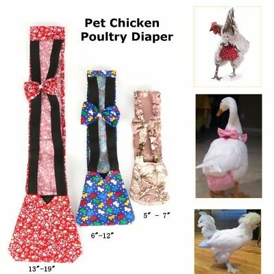 3 Sizes Pet Poultry Cloth Goose Duck Chicken Adjustable  Diaper Nappy Farm New