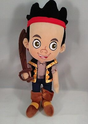 "Disney Store Jack and The Neverland Pirates Jake 13"" Plush Toy"
