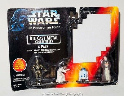 Star Wars The Power Of The Force Die Cast Metal 4 Pack Kenner 1995 C3Po Leia R2