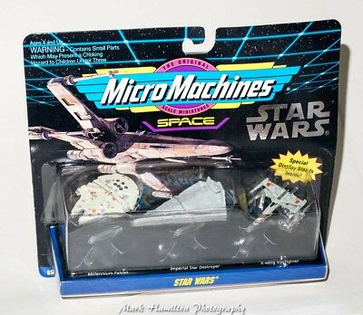 Star Wars Micro Machines Space Ships New Sealed Falcon X-Wing Galoob 1993