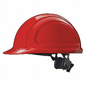 HONEYWELL NORTH Hard Hat,4 pt. Ratchet,Red, N10R150000, Red